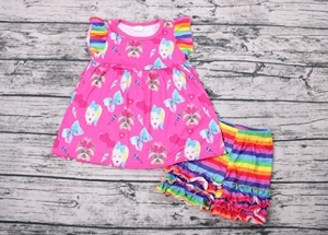 JoJo Dress with matching RAINBOW Shorts