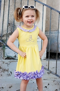Yellow/Purple Icing Dress