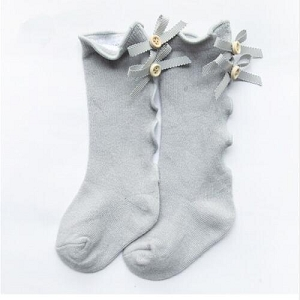 Ribbon and buttons Socks