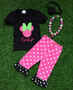 Minnie Pink Pants Set