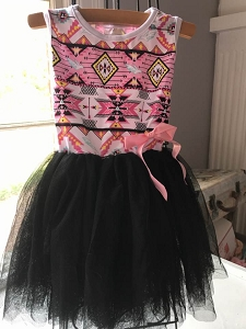 Aztec Black Dress