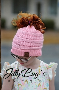 Child Beanies Messy Bun