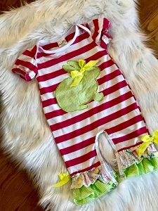 Striped Bunny Romper