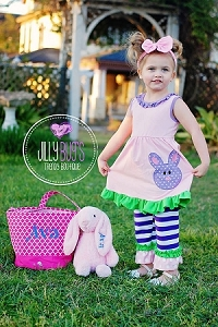 Purple Bunny Pants Set