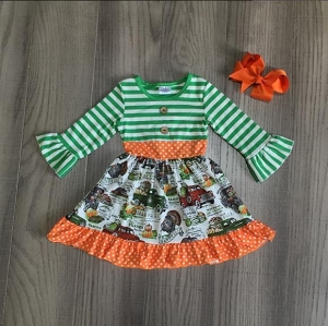 Truck Dress Orange ruffled