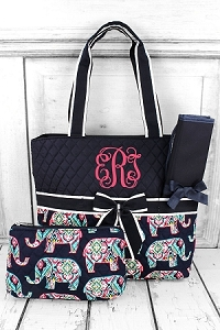 Diaper Bag Navy Elephants