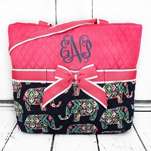 Diaper Bag Pink Elephants