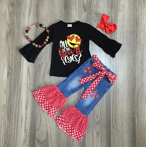 Emoji Heart Jean Set