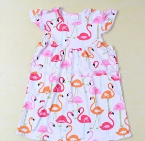 Flamingo Flutter Dress