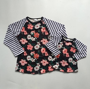 Mom flower stripe Shirt