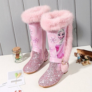 Winter Fur glitter boots