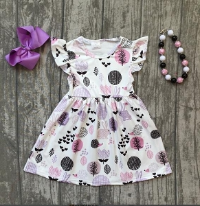 Milk Silk Woods Lavender Dress
