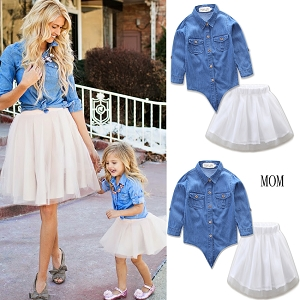 Mom and Me Skirt outfits