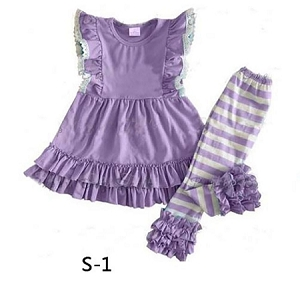 Lavender Stripe Lace Love