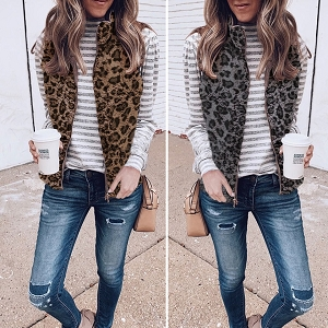 Leopard Reversible Vests
