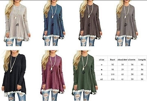 Lace Tunic Sweaters