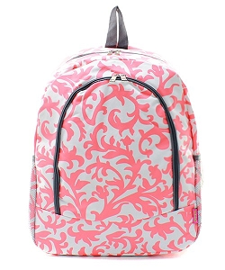 Pink Damask BackPack