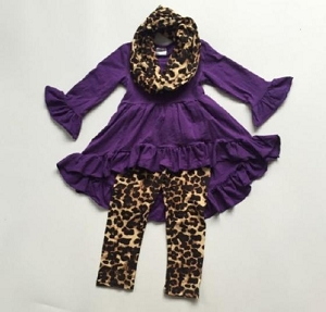 Animal Purple High low outfit