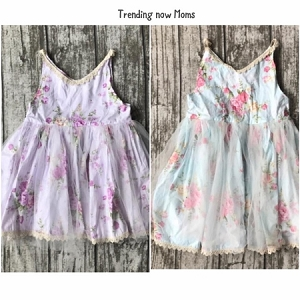 Pastel Rose Chiffon Dress