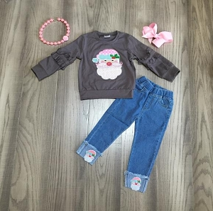 Santa Sweater and Jeans set