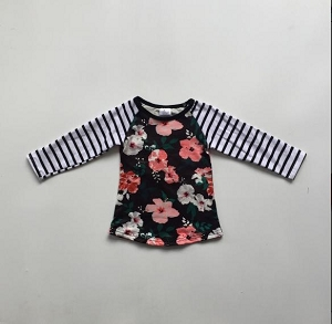 Child Flower Stripe Shirt