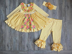 Ginger Yellow Ruffle