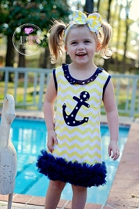 Yellow Anchor Dress