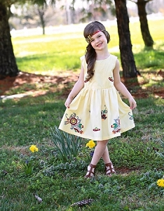 Yellow Butterfly Dress