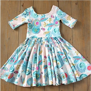 Fun Swirls Scoop neck Dress