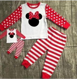 Minnie Mouse Red polka dots and stripes