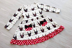 Minnie antler dress with pockets