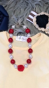 Red white necklace