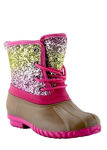Sparkle Pink Duck Boots KIDS