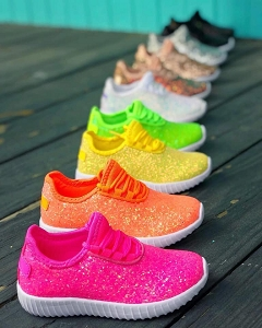 Kids Glitter Slip on Shoes