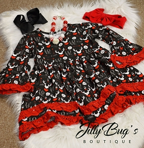 Antler Red Lace Dress