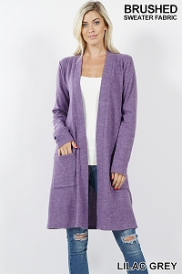 Brushed Long Sweater Lilac