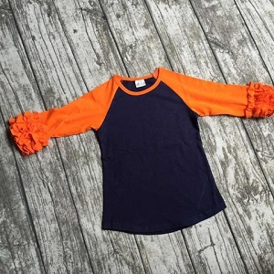 brown and Orange Raglan