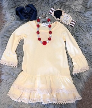 Cream Perfection dress