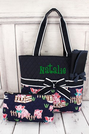 Diaper Bag  Pig Navy
