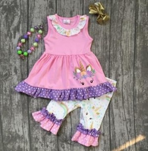 Unicorn Pink/Purple Dots Set