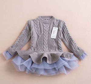 Sweater dress tulle