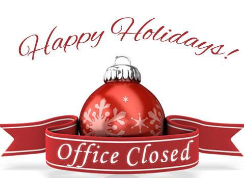 Office is Closed for the holidays