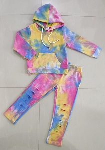 Hoodie Outfit Distress Tie Dye Darly