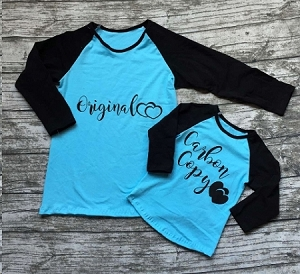 Original MOM Shirt Blue