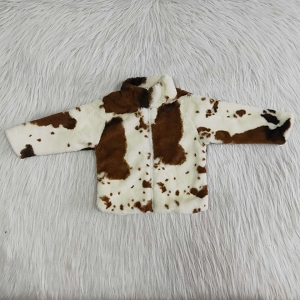 CowHide Faux Fur Jacket