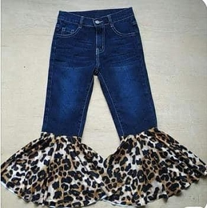 Jeans Leopard Fluff Flare