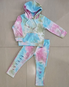 Hoodie Outfit Distress Tie Dye JANE UnPlain