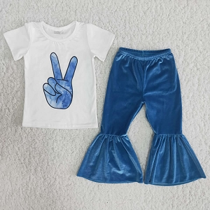Blue Peace Outfit