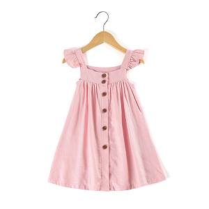 Blushing Buttons Dress