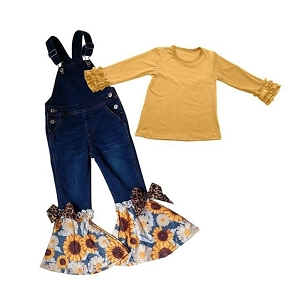 Sunflower Bell Overall Set